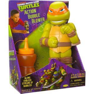 Little Kids Teenage Mutant Ninja Turtles Action Bubble Blower, Michelangelo