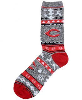 For Bare Feet Cincinnati Reds Ugly Sweater Socks   Sports Fan Shop By