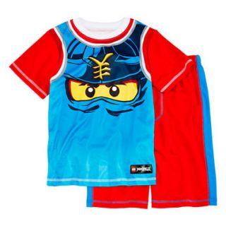 Novelty Lego Ninjago 2Pc Pajama Short Set Boys 4 12