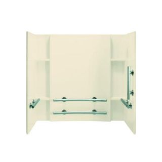 STERLING Accord 32 in. x 60 in. x 55 1/4 in. Three Piece Direct to Stud Tub and Shower Wall Set in Almond DISCONTINUED 71154123 47