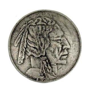 Indian head nickel knob (Set of 10) (Antique Bronze)
