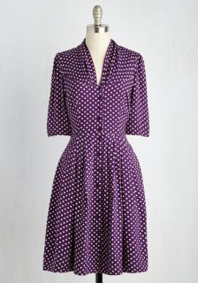Emily and Fin Star Studded Performance Dress in Dots  Mod Retro Vintage Dresses