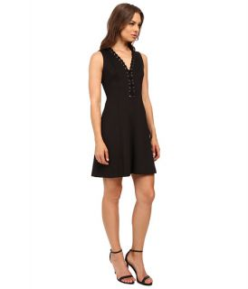 Jessica Simpson A Line Dress With Lace Up V Neck Detail Js6d8658