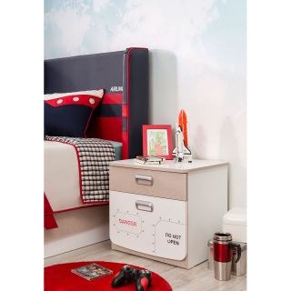 First Class Airplane 2 Drawer Nightstand