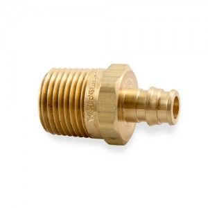 """Uponor Wirsbo LF4523850 ProPEX LF Brass Male Threaded Adapter, 3/8"""" PEX x 1/2"""" NPT (25 Pack)"""