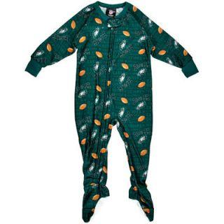Philadelphia Eagles Toddler Blanket Full Zip Sleeper   Midnight Green