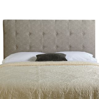 Humble + Haute Stratton Queen Ash Grey Upholstered Tufted Headboard