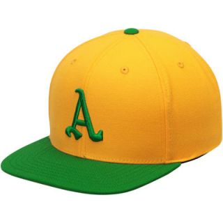 Oakland Athletics American Needle Cooperstown Snapback Adjustable Hat   Gold/Kelly Green