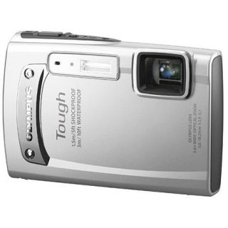 Olympus Stylus Tough TG 310 Digital Camera, 14 Megapixels, 3.6x Optical Zoom, HD Movie/HDMI Control, 2.7in LCD Screen, Waterproof 10ft, Silver 228065