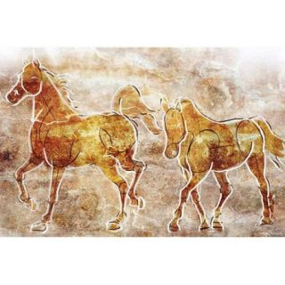 Maxwell Dickson ''Horses on the Wall'' Painting Prints on Canvas