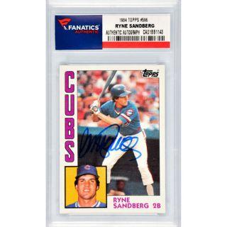 Fanatics Authentic Ryne Sandberg Chicago Cubs Autographed 1984 Topps #596 Card