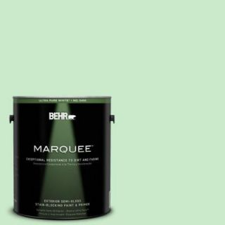 BEHR MARQUEE 1 gal. #P390 2 Chilled Mint Semi Gloss Enamel Exterior Paint 545001