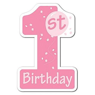 Beistle 16 1st Birthday Cutouts, Pink, 10/Pack
