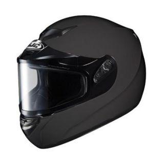 HJC CS R2 Solid Snow Helmet w/Dual Lens Shield Matte Black LG