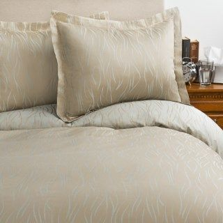 Peacock Alley Illusion Duvet Set   Queen, Egyptian Cotton Sateen 8040R 55