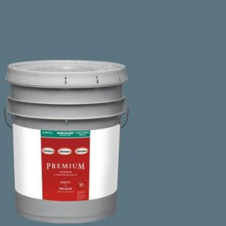 Glidden Premium 5 gal. #HDGB52 Village Blue Semi Gloss Latex Interior Paint with Primer HDGB52P 05S