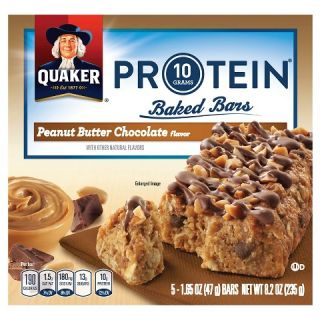 Quaker Protein Peanut Butter Chocolate Baked Bars 1.65 oz 5 ct