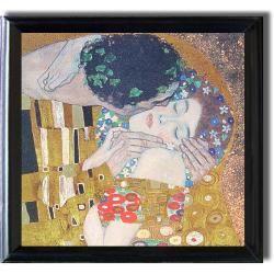 Gustav Klimt The Kiss Framed Canvas Art   13277785