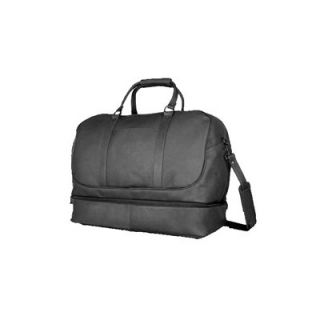 David King 20 Leather Bottom Compartment Travel Duffel