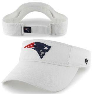 47 Brand New England Patriots Clean Up Adjustable Visor   White