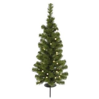 3' Pre lit Battery Operated Medium Artificial Christmas Tree   Warm Clear LED Lights