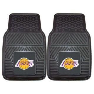 FANMATS Los Angeles Lakers 18 in. x 27 in. 2 Piece Heavy Duty Vinyl Car Mat 9302