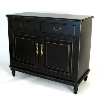 Wayborn Buffet Cabinet in Distressed Antique Black