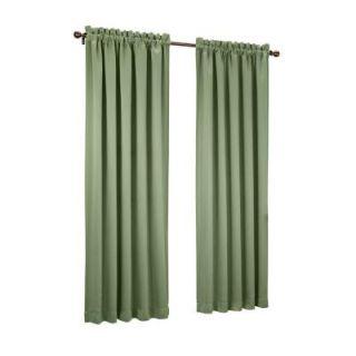 Sun Zero Sage Green Gregory Room Darkening Pole Top Curtain Panel, 54 in. W x 84 in. L 43192