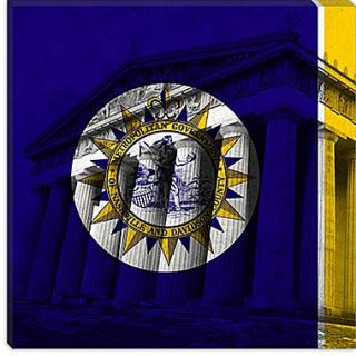 iCanvas Flags Nashville Parthenon Graphic Art on Canvas; 37 H x 37 W x 1.5 D