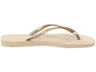 Havaianas Slim Crystal Glamour SW Flip Flops Sand Grey/Light Gold