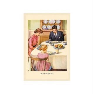 Thank You, God, For Food Print (Unframed Paper Print 20x30)
