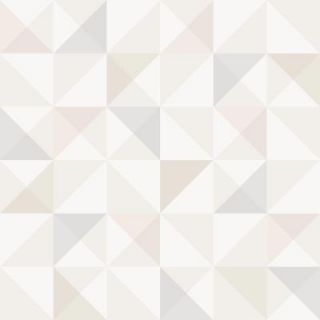 Brewster 57.5 sq. ft. Beige Geometric Wallpaper WV8103