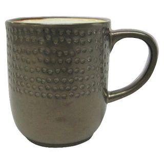 Stoneware Metallic Rim Mug (Dots)   Threshold™