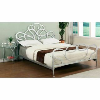Chintaly Imports 6453 QN Queen Bed in Silver