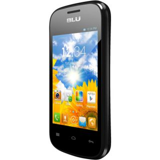 BLU Dash Junior D140 GSM Cell Phone (Unlocked), Black