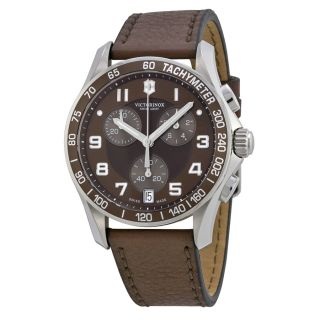 Open Box   Victorinox Swiss Army Chrono Classic Brown Dial Brown