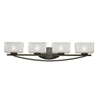 Z Lite 3006 4V Cardine 4 Light Vanity Light in Painted Bronze with Matte Opal Shade