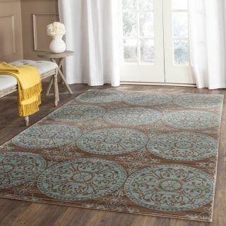 Safavieh Valencia Brown/ Alpine Polyester Rug (5 x 8)   17337255