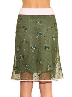 Floral embellished tulle skirt  Mary Katrantzou US