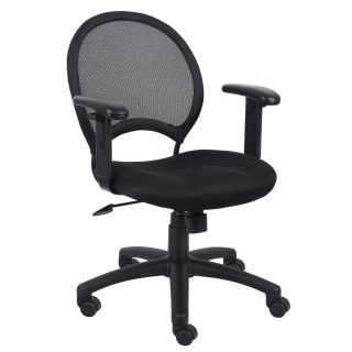 BOSS Office Products B6216 Mesh Chair with Adjustable Arms