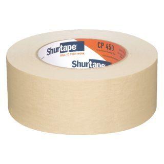 SHURTAPE Masking Tape, 55m x 48mm, Natural, 6.9 mil, Package Quantity 24   24K292|CP 450   Grainger