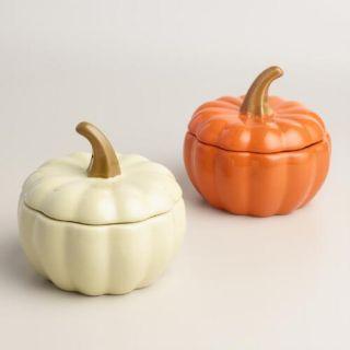 Ceramic Pumpkin Bakers Set of 4