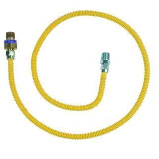 BrassCraft Safety+PLUS 3/8 in. Female Flare Excess Flow Valve x 1/2 in. MIP x 48 in. Gas Connector 3/8 in. O.D. (28,300 BTU) CSSL114R 48 X