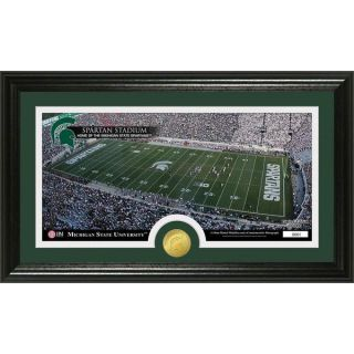 Michigan State University Stadium Bronze Coin Panoramic Photo Mint