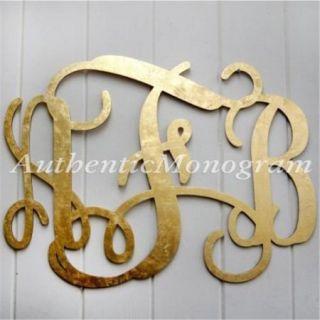 G. DeBrekht Artistic Studios 91101P 24 3 Letter Custom Painted Wooden Monogram