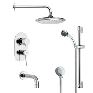 Remer by Nameeks TSR9044 Galiano Modern Rain Shower System in Chrome with 3 2 9 W Handheld Shower