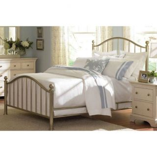 American Drew 901 385R Ashby Park Queen Metal Tapered Bed Complete in Plated Nickel