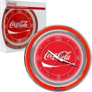 Coca Cola Neon Clock, Dynamic Ribbon, 2 Neon Rings