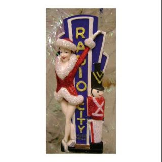 """6"""" The Rockettes with Radio City Music Hall Marquee Christmas Ornament"""