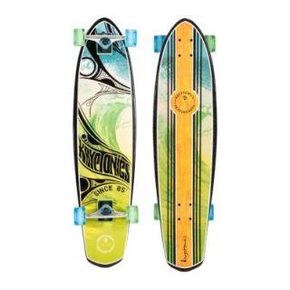 Kryptonics Tribal Wave Graphic 36 in. Longboard Skateboard 161367